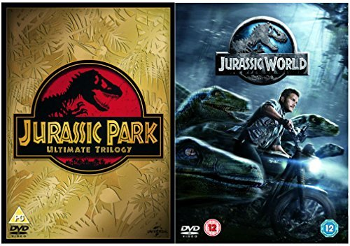 Jurassic Park 1, 2, 3 and 4 Complete DVD Collection : Jurassic Park / The Lost World - Jurassic Park / Jurassic Park III / Jurassic World Extras Bonus features : Deleted Scenes by Chris Pratt