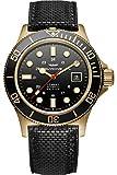 Glycine Combat Mens Analog Swiss Automatic Watch with Leather Bracelet GL0187
