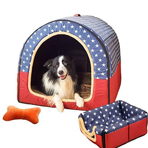 B&F Perrera, 2 en 1 Casa de Perro Perro Grande Invierno