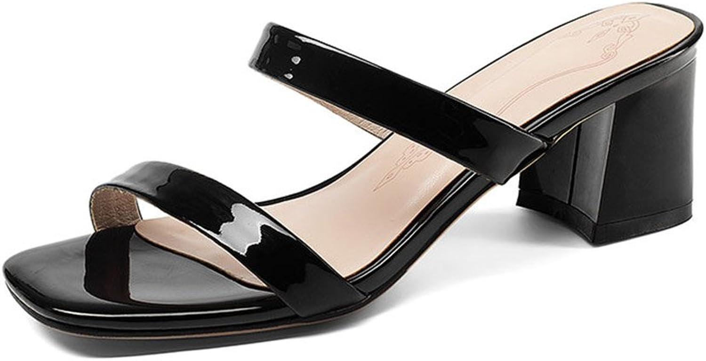 Sandalen Rough Mittlere Ferse Hausschuhe Zehe ffnen Frau Sommer Mode Schuhe mit Hohen Abstzen Freizeitschuhe