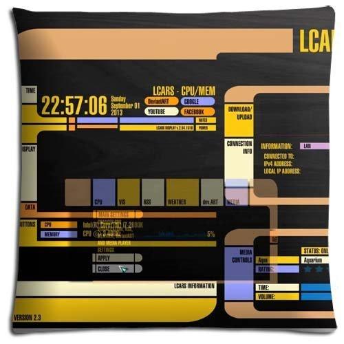 8888CASE Bedding Pillow case Polyester * Cotton super Generously Star Trek The Next Generation Kissenbezüge (50cmx50cm)
