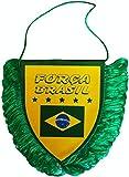 Brasil bandera del equipo de fútbol ventilador colección 10 x 8 cm tamaño