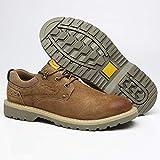 Zapatos de Trabajo Botas de Seguridad Botas de Seguridad para Hombre británicas Antideslizantes Punteras de Acero Transpirables Zapatillas de Trabajo antipinchazos (Color : A, Size : 44)