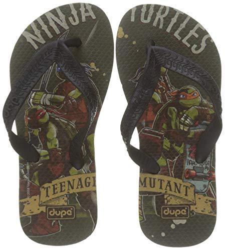 Dupe 4140676 0154 Flip Flops Turtles Ninja, Grey, 27-28, Unisex-Adult