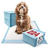 ValuePad Puppy Pads, Medium 23x24 Inch, 224 Count - Training Pads for Dogs, Leak Resistant 5-Layer Design, Perfect for Puppies, Smaller Dogs