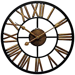 Infinity Instruments Fall 2016 14 Inch Micro Fusion Metal Indoor and Outdoor Wall Clock with Battery Cover