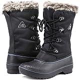 POLAR Womens Snow Boot Nylon Tall Winter Fur...