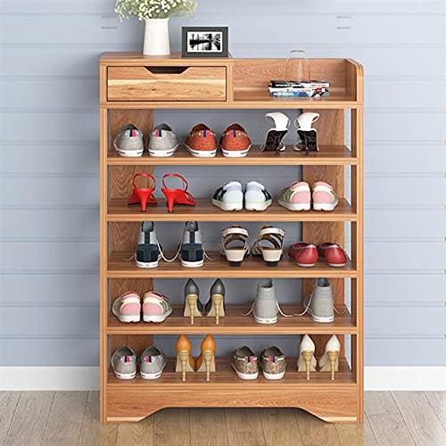 ZWWZ Zapatero de 5 Capas Almacenamiento de Zapatos Caja de Almacenamiento de Madera Estante de Asiento Soporte de Pasillo Estante de Zapatos