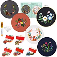 5-Sets Caydo Embroidery Starter Kit with Pattern and Instructions