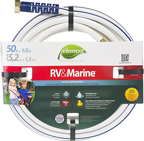 "Swan Products ELMRV12050 Element RV & Marine Camping and Boating Water Hose 50' x 1/2"", White"