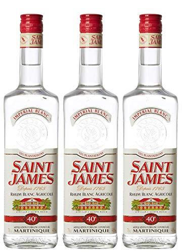 Saint James Saint James Rhum Blanc Agricole Martinique 40% Vol. 0,7L - 700 ml (Paquete de 3)