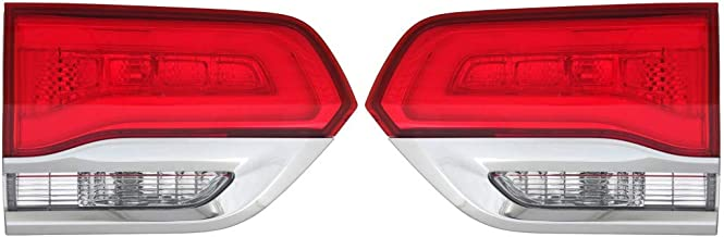 Fits 2014-2018 Jeep Grand Cherokee Pair Rear Backup Lights Driver and Passenger Side LAREDO/LIMITED/OVERLAND/SUMMIT; Shiny Platinum Chrome CH2802105 CH2803105 - replaces 68110047AB 68110046AB