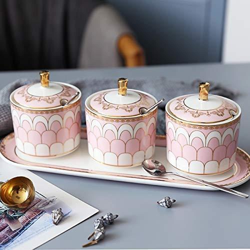 ZHTY Salt Shaker Seasoning Ceramic Storage Pot, Kitchen Seasoning Tool Household Spice Storage Pot SONG