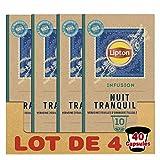 Lipton Infusions Nuit Tranquille Tilleul, Lavande et Camomille, Capsules Compatibles Nespresso 40...