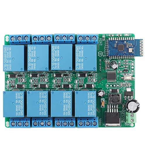 EVTSCAN último interruptor de control remoto de placa de relé Bluetooth de 5 V y 8 canales ajustable