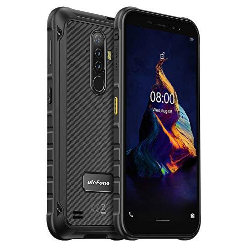 Ulefone Armor X8 Outdoor Smartphone ohne Vertrag, 4GB+64GB, 256GB Externe SD, Android 10 Handy IP68 Wasserdicht, 13MP Dreifachkamera Unterwasser, 5080mAh Akku, NFC-Fingerabdruck, 5,7'' HD+ Schwarz