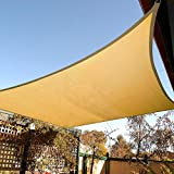 Artpuch 10' x 10' Sun Shade Sails Square Canopy, Sand UV Block Cover for Outdoor Patio Garden Yard