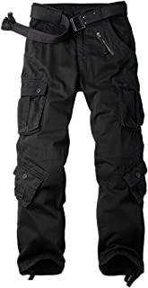 Men's Cotton Military Cargo Pants, 8 Pockets Casual Work Combat Trousers