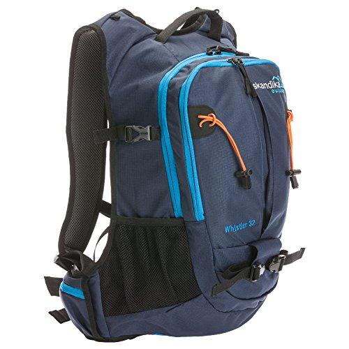Skandika Whistler - Sac à Dos Marche randonnée Daypack - 32 litres (Bleu/Orange)