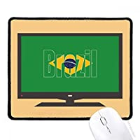 ブラジル国の旗の名 マウスパッド・ノンスリップゴムパッドのゲーム事務所