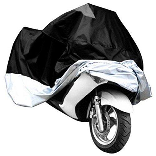 WINOMO wasserdichte Motorrad Abdeckung resistent Regen UV Schutz atmungsaktive Abdeckung Outdoor Indoor mit Aufbewahrungstasche Größe M (schwarz und Splitter)