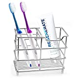 Uigos Toothbrush Holder for Bathroom , Stainless Steel Tooth Brush Holders with Multifunctional 5...
