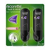 NICORETTE Spray mit fruit & mint Geschmack – Rauchen aufhören mit Nikotinspray – 1 Spray ersetzt bis zu 150 Zigaretten – zur Raucherentwöhnung