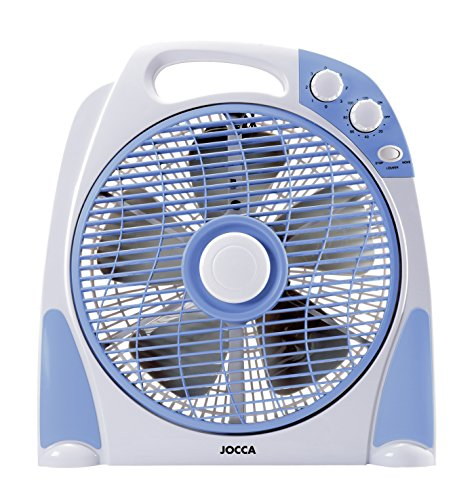 Jocca 2233 Ventilador de sobremesa, color azul y gris, 50 W, Plástico