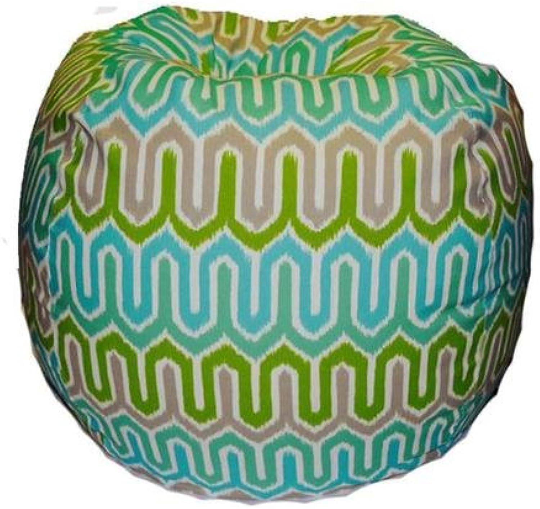 Mybeanbag Chair Giant - Ikat, Turquoise Green