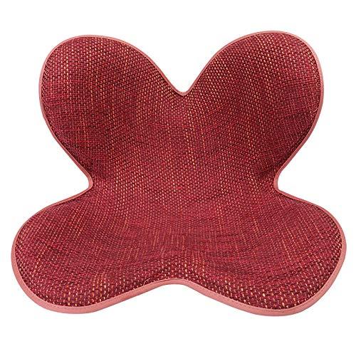 SHBV Cojín del Asiento del Pétalo Ortopédico Trasero,Oficina Soporte De Cintura Hermosa Nalgas Elegante Ventilado-Rojo 40x36x32cm(16x14x13inch)