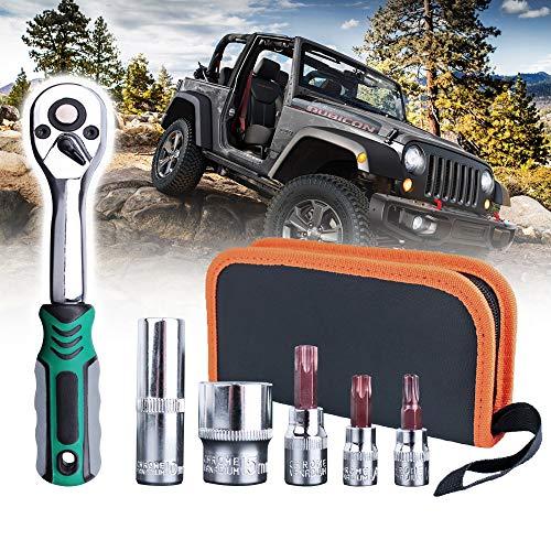 Torx Tool Kit Replacement for 2007-2019 Jeep Wrangler JL JK 2-4 Doors Soft Top Hard Top Door Install Removal Tool Kit Replace 82214166AB 68361574AB