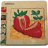 Beleduc - 17040 - Puzzle À Superposition En Bois - Fraise - 30 Pièces