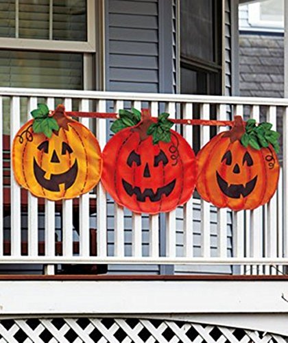 Halloween Pumpkin Decoration Bunting - Large 59' Seasonal Family...