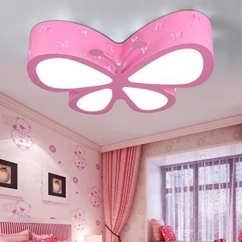 Plafondlamp voor slaapkamer, creatieve persoonlijkheid, vlinder, slaapkamer, plafondlamp