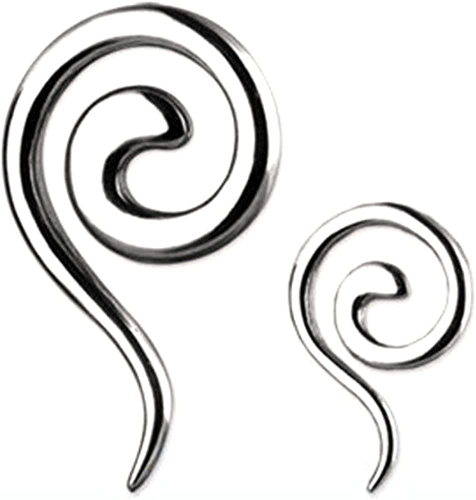 Body Accentz Earrings Bargain sale Rings Spasm price 316L Surgical Twist Steel Swirl Tape