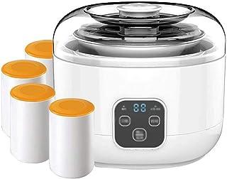 SJYDQ Un Bouton microordinateur Timing yogourt Machine, Doublure en Acier Inoxydable + 4 Combinaison Coupes Porcelaine, co...