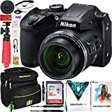 Nikon COOLPIX B500 16MP 40x Optical Zoom Digital Camera w/Wi-Fi Black Bundle with Deco Gear Photography Bag Case + Software Kit + 16GB SDHC Memory Card & Accessories