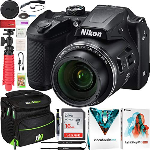 Best Review Of Nikon COOLPIX B500 16MP 40x Optical Zoom Digital Camera w/Wi-Fi Red Bundle with Deco ...