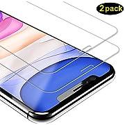 DOSMUNG Panzerglas Schutzfolie für iPhone 11/iPhone XR [2 Stück] Displayschutzfolie für iPhone 11 [Vollständige Abdeckung] [Anti-Kratzen] [Anti-Bläschen] Panzerglasfolie für iPhone 11 (6.1 Zoll)