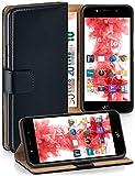 MoEx Premium Book-Hülle Handytasche passend für Wiko Wim LITE | Handyhülle mit Kartenfach & Ständer - 360 Grad Schutz Handy Tasche, Schwarz