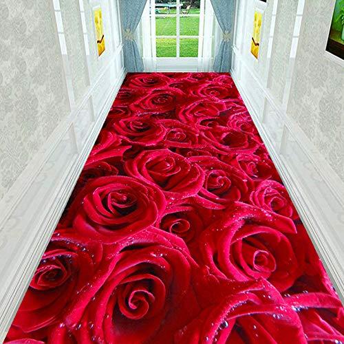 Alfombra de terciopelo con estampado de flores de lujo, color dorado, para sala de estar, mesa de café, personalizada, lavable a máquina (tamaño: 160 x 250 cm, color: color 02)