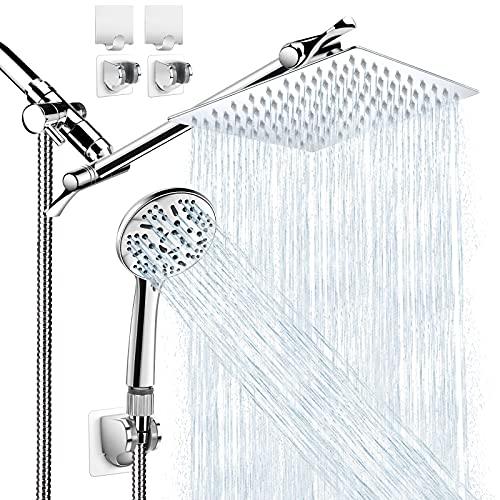 Shower Head with Handheld, High Pressure 8' Rain/Rainfall...