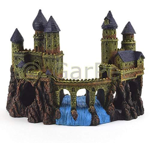 Aquarium Deko Burg mit Brücke Schloss Festung Turm Ritterburg Castel Dekoration