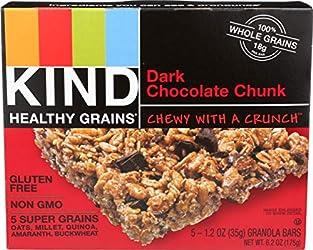 Kind, Dark Chocolate Chunk Granloa Bar, 1.2 Ounce, 5 Count