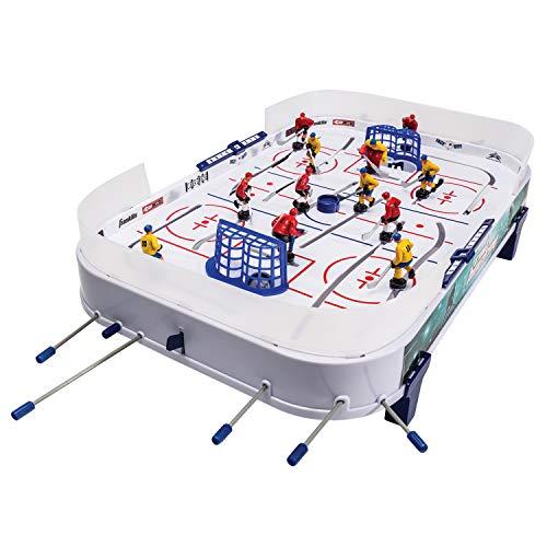 Franklin Sports Rutenhockey – Familien-Tischspiel mit 12 Hockeyspielern – schnelle Hockey-Action für Kinder