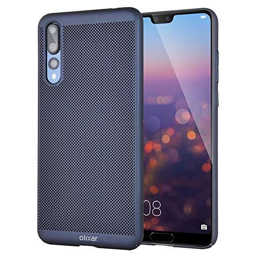 Olixar Huawei P20 Pro Schutzhülle - Wärmeableitend - Kühler MeshTex - Induktives Laden Möglich - Marineblau