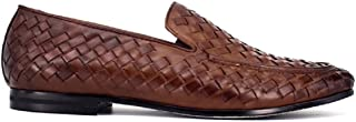 Antoine & Stanley Men's ISABRN01 Isaac Loafer Flats