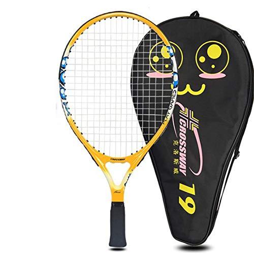 JIN GUI Raqueta de Tenis para niños de 19 Pulgadas, Raqueta Deportiva de Fibra de Carbono, Juego de Raqueta de Tenis de Carbono Ultraligera para niños, Puede Cultivar un Sentido de coordinación