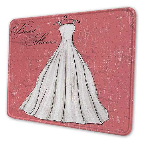 Brautdusche Büro Mauspad Retro Pink Grunge Hintergrund Hochzeit Brautkleid Party Vintage Bild Fleckensicheres Mauspad Koralle Schwarz und Weiß