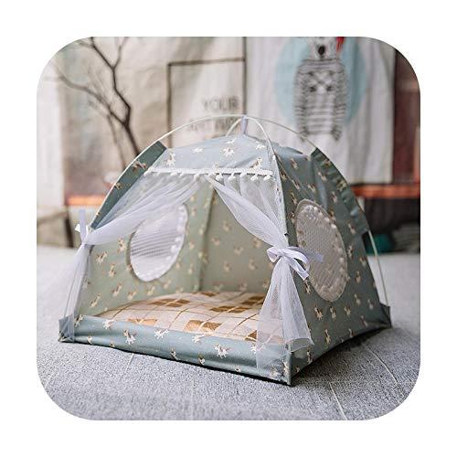 Cama de gato caliente de invierno plegable pequeños gatos tienda casa gatito para canasta de perro Camas lindas casas de gatos cojín casa perrera productos - Blanco-M